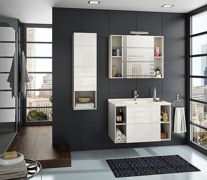 salle de bain ambiance. Black Bedroom Furniture Sets. Home Design Ideas