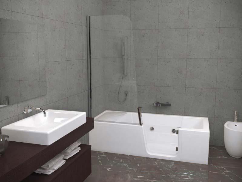 Baignoire bain douche kinedo kineduo atout kro - Combine baignoire douche belgique ...
