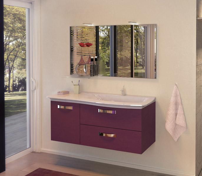 Meuble salle de bain burgbad curve atout kro for Dimensions meuble salle de bain