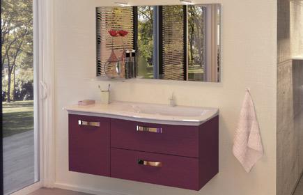 Aperçu Curve meubles de salle de bains chez BurgBad
