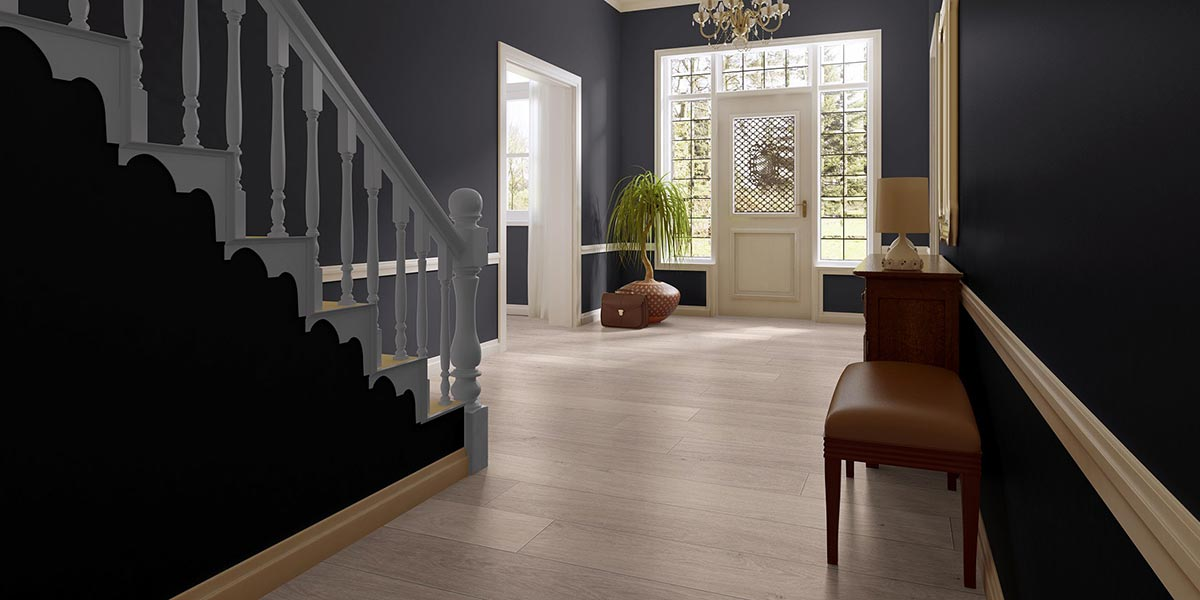 Sol stratifi ch ne h ritage naturel monolame quick step for Parquet quick step salle de bain