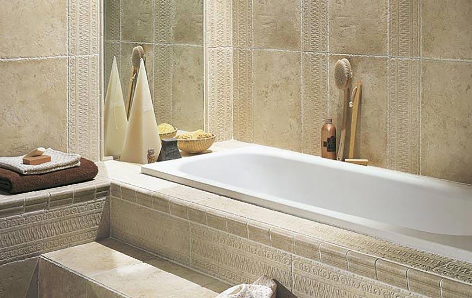 Carrelage salle de bain imitation pierre for Carrelage pierre salle de bain