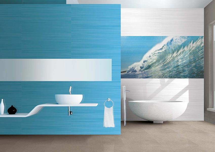 Carrelage mural fa ence novogres love time atout kro for Carrelage salle de bain tunisie
